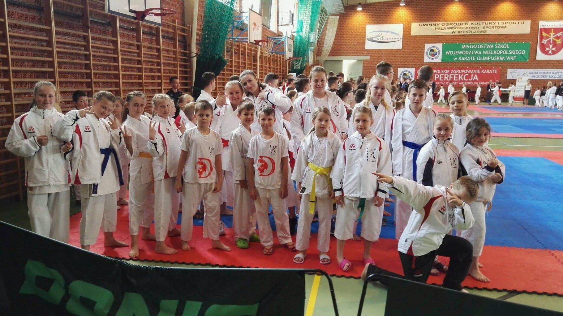 Indywidualne Mistrzostwa Szkół Województwa Wielkopolskiego w Karate Olimpijskim WKF 2018 w Kleszczewie